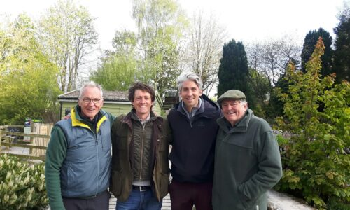 Filming with Larry and George Lamb at Kilnsey Park Estate in the Yorkshire Dales
